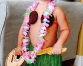 PDF pattern- Crochet Hula Costume 0-24 months Hawaiian Luau Bikini- INSTANT DOWNLOAD
