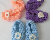 Baby Lacy Crochet Slippers, Baby Shoes, Baby Girls Booties, Girl's Shoes, Tots Shoes