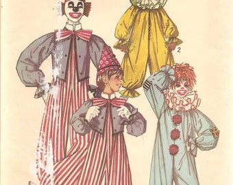 Adult Clown Costume - Vintage Sewing Pattern Simplicity 9051 - Size Large UNCUT