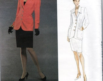 Emanuel Ungaro Skirt & Jacket  90s Vogue Paris Original Sewing Pattern 1330 Size 14 16 18 Bust 36 38 40 UNCUT FF