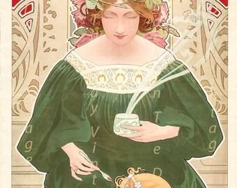 "Vintage Fine Art Giclée Reproduction of ""Helm Cocoa""   c1899"