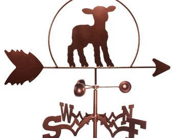 Hand Made Lamb Sheep Weathervane NEW
