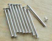 3 inch Scrapbook Screw Posts set of 10 aluminum posts