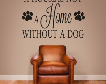 Dog Quote Wall Decal Etsy