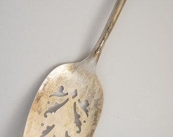 Vintage Silverplate Cake Spatula Wedding Decor Shabby chic
