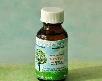REVIVE - Nourishing Facial Oil- with Organic Hemp Seed and Essential Oils