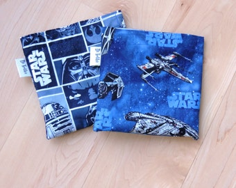 Star Wars Reusable Snack Sandwich Baggie Bag Set with water resistant lining