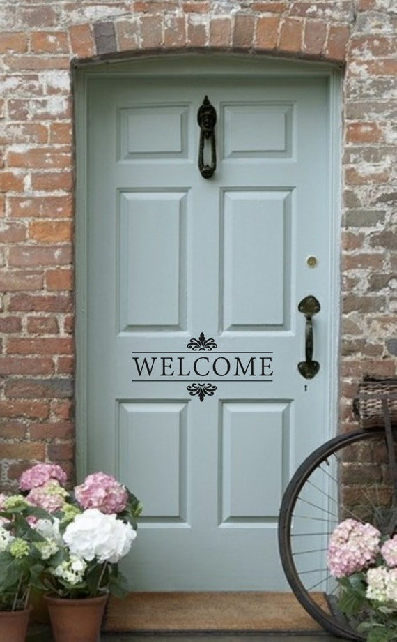 Items Similar To Welcome Vinyl Wall Decal Front Door