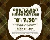 Custom Beard Bash Invitation - 5 x 7 DIY Printable for Birthday, Cookout, etc.