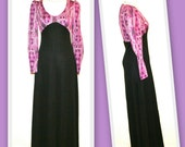 1970s Young Innocent by Arpeja/Vintage Boho Maxi/Empire Waist Dress