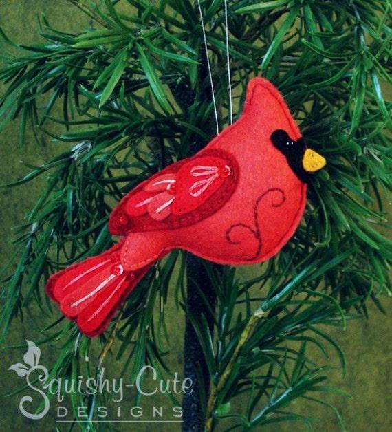Cardinal Sewing Pattern Pdf Backyard Bird Stuffed Ornament