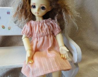 Yo-sd  bjd Chemise Dress Peach
