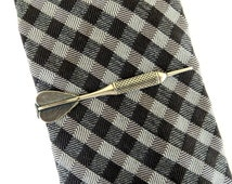 Dart Tie Bar- Dart Tie Clip- Sterling Silver & Antiqued Brass Finishes- Gifts For Men- Groomsmen Gifts
