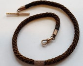 Victorian Hair Albert Watch Chain
