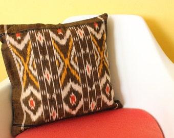 Vintage Ikat Square Pillow Cover