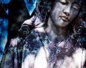 SALE Angel Art, Fine Art Photography, Religious Photo, Cemetery, Modern Wall Art, Spirituality, Condolence Gift, 11 x 14 Print, Angel Wings