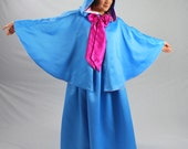 Fairy Godmother, Skirt & Cape Set, Twilight Blue