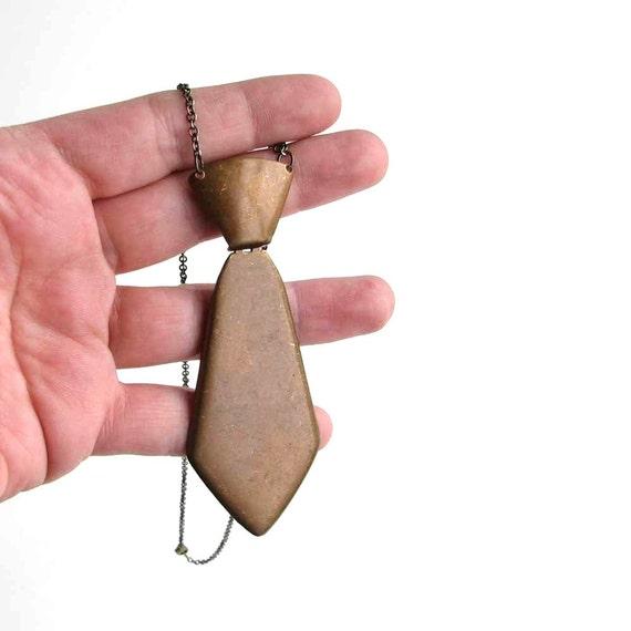 necktie necklace - metal tie androgynous jewelry
