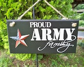 Army Signs, Military Sign, Proud Army family, family sign, American flag, made in usa