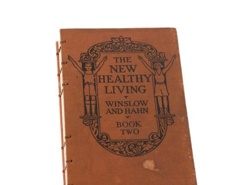 1929 NEW HEALTHY LIVING Vintage Lined Resolution Journal