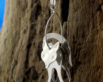 Fox Necklace, Fox Pendant, Fox jewellery, Animal Jewelry, Silver, Handmade, Wildlife Jewellery, Gift for animal lovers, Foxes, Fox Gifts.