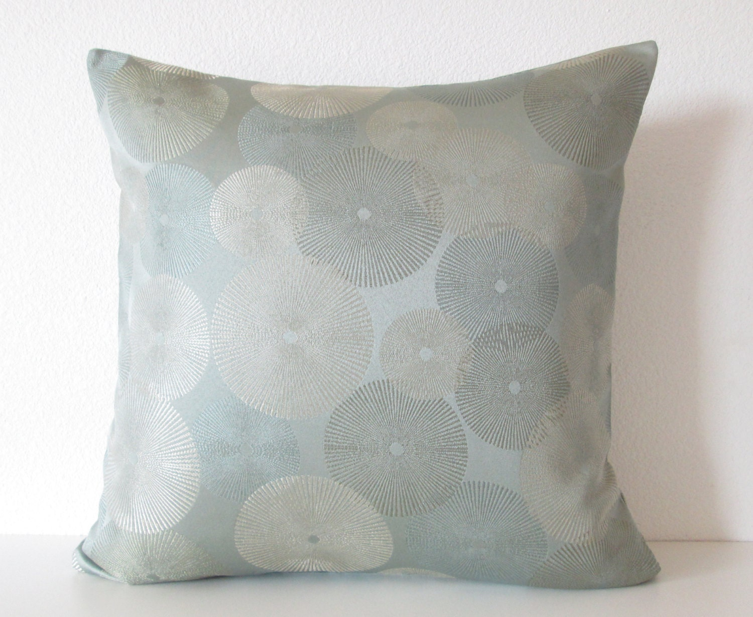Candice Olson starburst muted blue silver designer throw