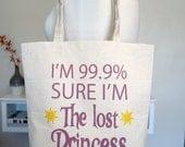 tangled tote bag, rapunzel, lost princess, 99.9 percent princess, floating lanterns, disney tote bag, disney, tangled