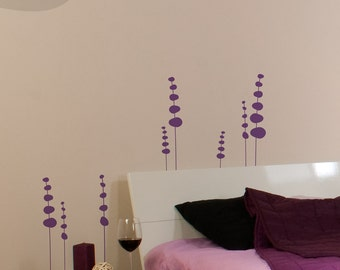 Circle Flowers - Vinyl Wall Decal