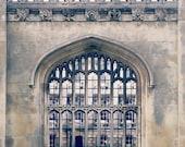 Historical Architecture, Window Photography, Arch Window, Cambridge Print, Home Decor, England Print, 8x10 Print, Through The Arch Window...