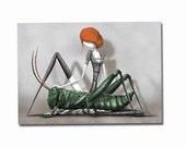 The grasshopper- 8x11 or 16,5x11 inches fine art print - Signed - Printed by a professional