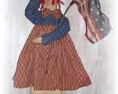 """Primitive """"Liberty Ann"""" Raggedy Doll Americana Pattern"""