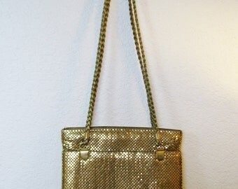 Y and S Original Gold Mesh Purse