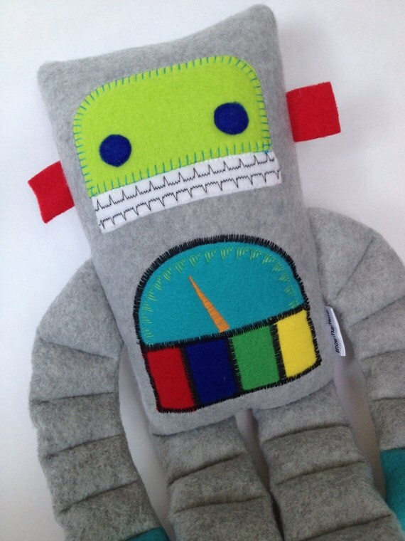 Gauge the Robot Plush by Busybot by Etsy