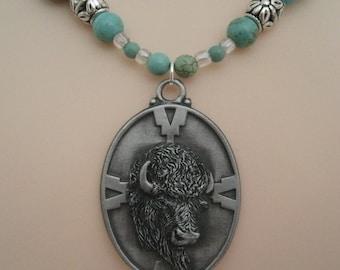 Buffalo Necklace, southwestern jewelry southwest jewelry turquoise jewelry native american jewelry theme western jewelry cowgirl country