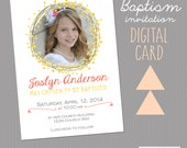 Printable Calligraphy LDS Baptism Announcement or Invitation -- A Custom  Digital invite or Printed for you