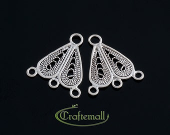 2 Sterling Silver Chandelier Earring Components - bcfc009