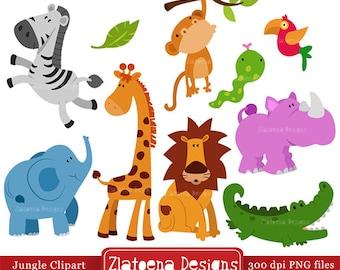 Jungle Animals Digital Clipart / Safari Animals Clip art / Zoo