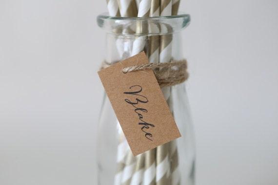 NAME TAGS | Labels, Escort Tags, Place Cards, Bonbonerie, Wedding, Engagement | Minimalist, Modern