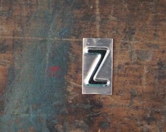 vintage industrial letter Z / metal letters / letter art