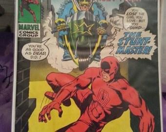 Marvel Comics DAREDEVIL 64 Silver Age Comic Book High Grade VF - Daredevil The Stunt - Master Comic Book