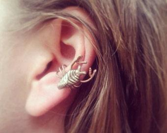 Scorpion ear cuff entomology jewelry