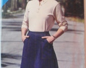 Womens Vintage Sewing Pattern - Wrap Skirt - Butterick 3095 - Sizes 8-10-12, Waist 24-25-26 1/2, Uncut
