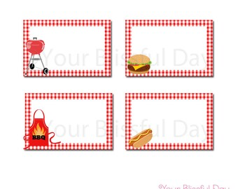 BBQ Buffet Labels | PRINTABLE BBQ Food Labels | Barbecue Label Tents | Cook Out Party Label Tents | Grill Out Party Food Labels  #102