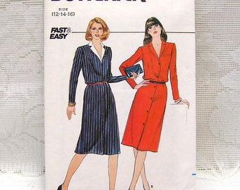 Butterick 4540 - Misses Dress Pattern - Sizes 12, 14, 16 - Fast and Easy