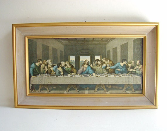 the last supper framed print 60s 1970s home by abouttheplace. Black Bedroom Furniture Sets. Home Design Ideas