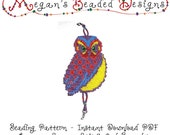 Loom or Square Stitch Rainbow Owl Bracelet Pattern Instant Download PDF