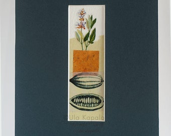 "OOAK Original art collage ""The Garden"""