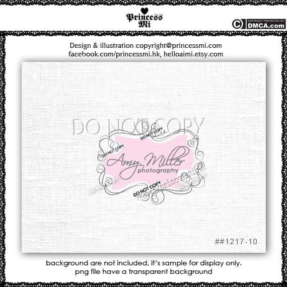 Custom Premade Logo Design - sketch hand drawn swirls frame border logo photography business boutique logo by princess mi logo1217-10