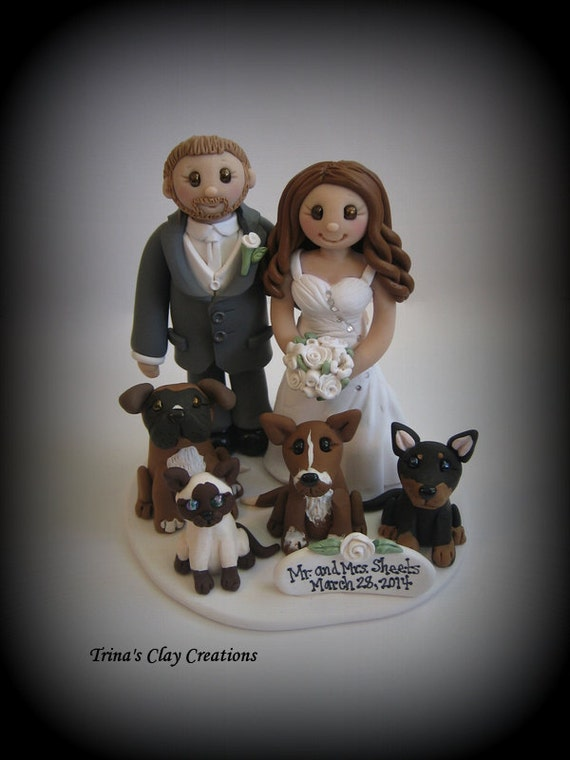 wedding cake toppers with dogs and cats wedding cake topper custom cake topper cat and 26631