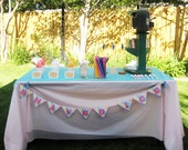 Party Printable Banner Shaved Ice Bunting Vintage Carnival Shower